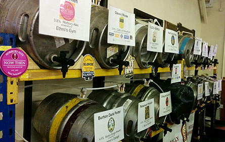 Mayfield Beer Festival barrels